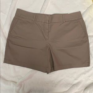 Loft 6 inch cotton shorts- sz 14, color dark tan